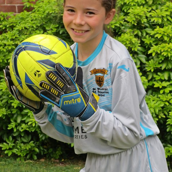 Girl goalkeeper